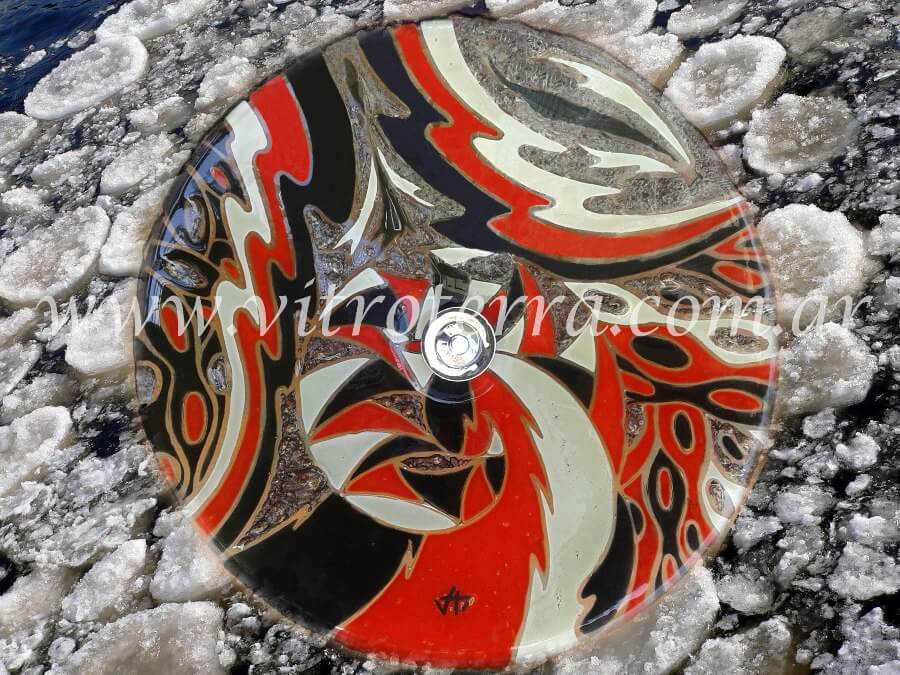 Bacha circular de vidrio Albatros Rojo