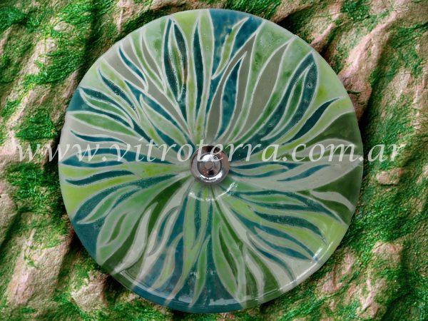 Bacha circular de vidrio Algas y Líquenes