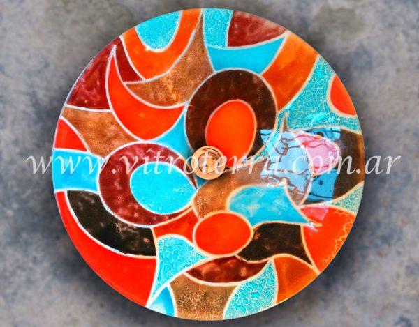 Bacha circular de vidrio Alpina-Celeste