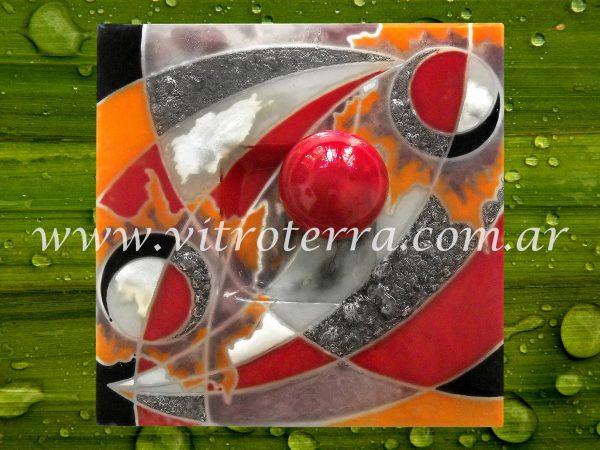Centro cuadrado de vidrio Andrómeda