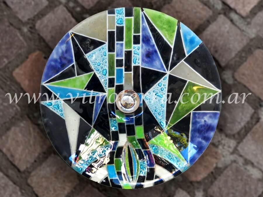 Bacha circular de vidrio Argot