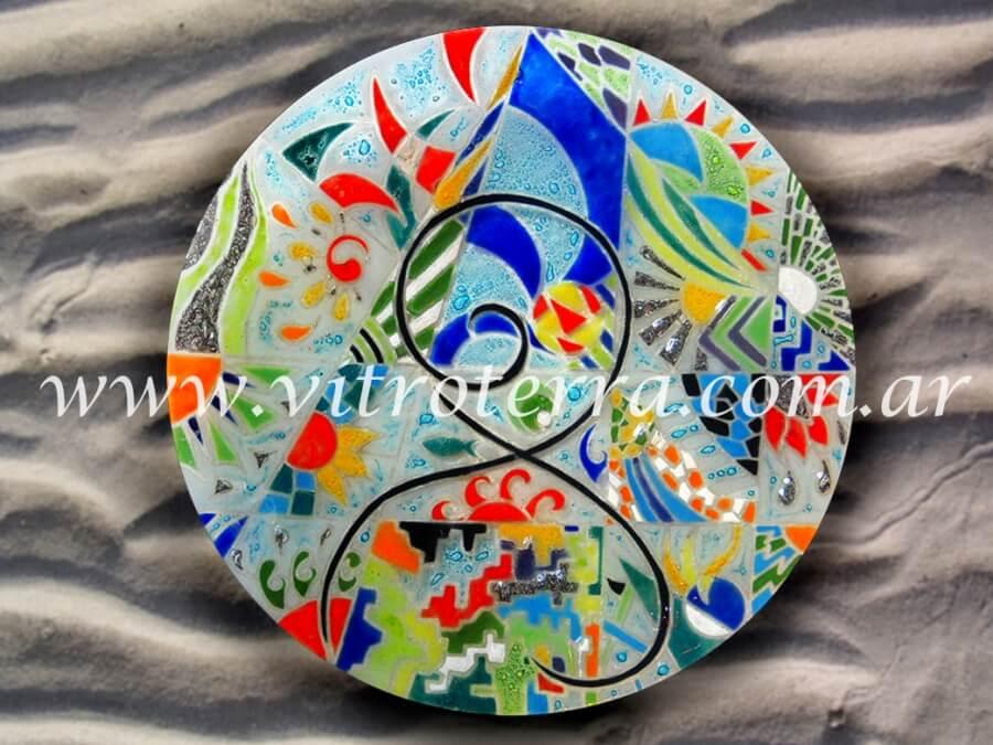 Centro circular de vidrio Avatar