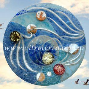 Centro circular de vidrio Mariano