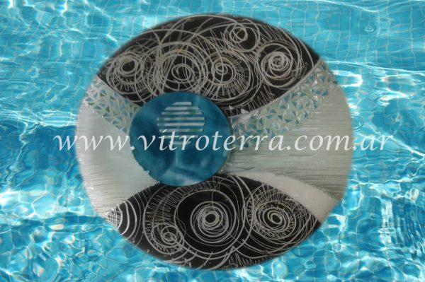 Centro circular de vidrio Bárbara