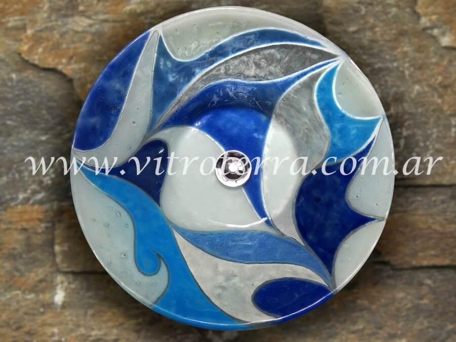 Bacha circular de vidrio BP-Bleus