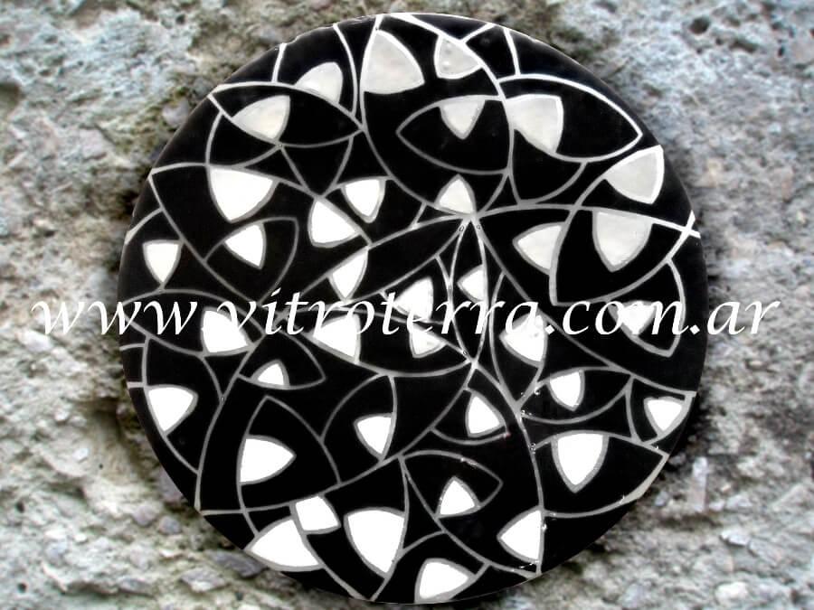 Centro circular de vidrio Bloise