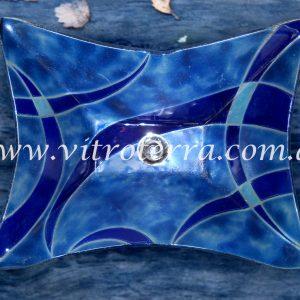 Bacha rectangular de vidrio Blue-Song