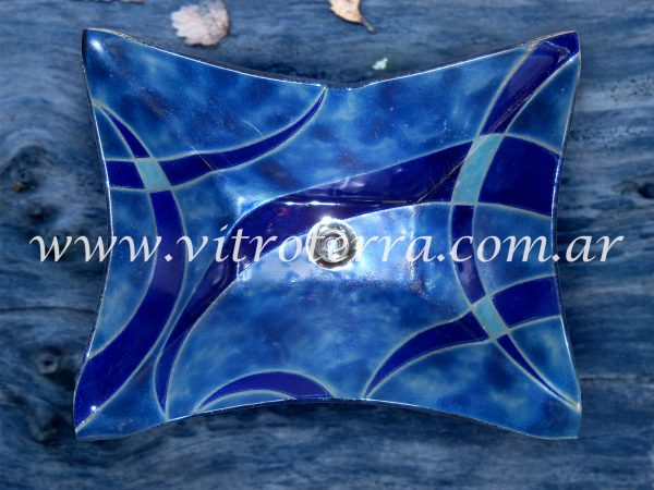 Bacha rectangular de vidrio Blue-Song
