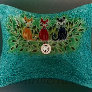Bacha rectangular de vidrio Cats