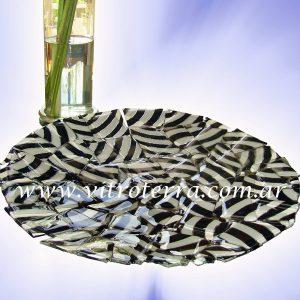 Centro circular de vidrio Cebra