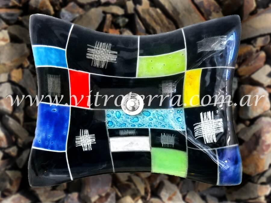 Bacha rectangular de vidrio Discovery
