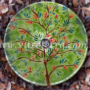 Bacha circular de vidrio Árbol