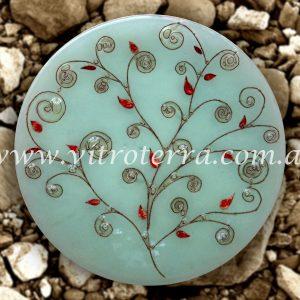 Centro circular de vidrio Árbol-de-la-Vida