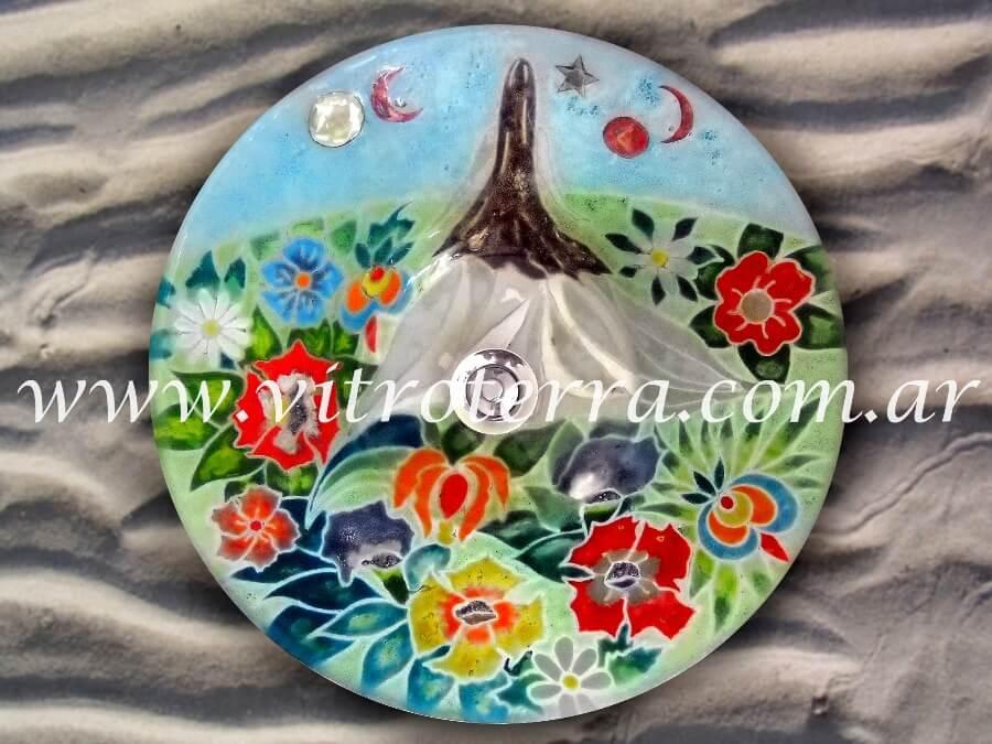 Bacha circular de vidrio BP-Felicitas