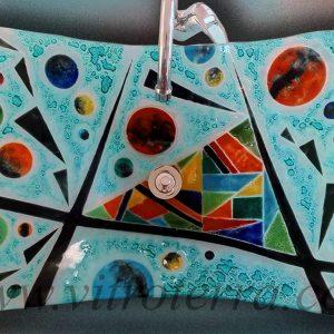 Bacha rectangular de vidrio GA-Florencia