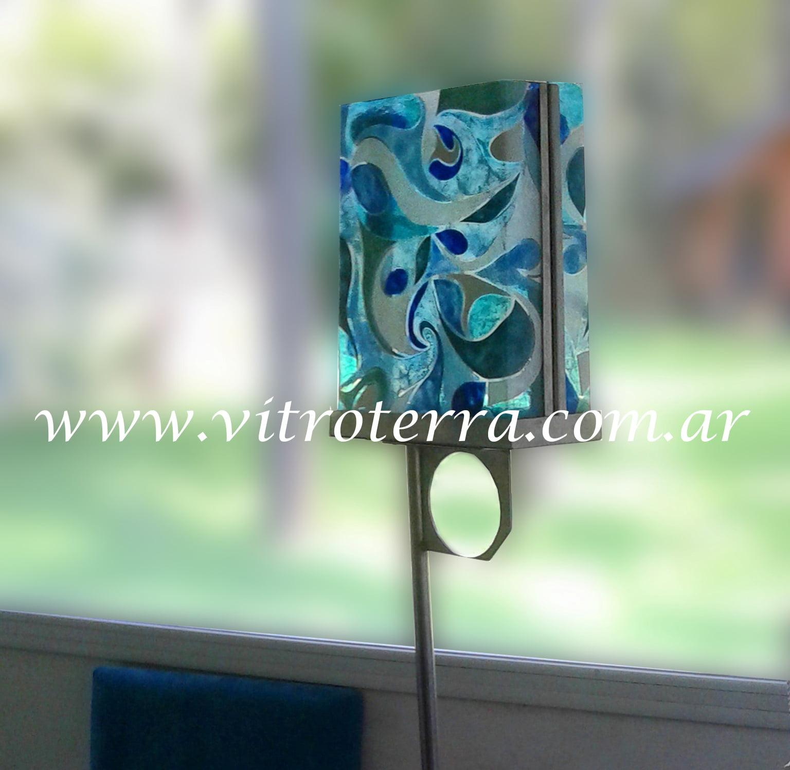 Lámpara de vidrio modelo Frances