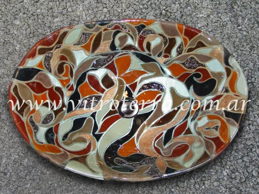 Bacha oval de vidrio Frederika