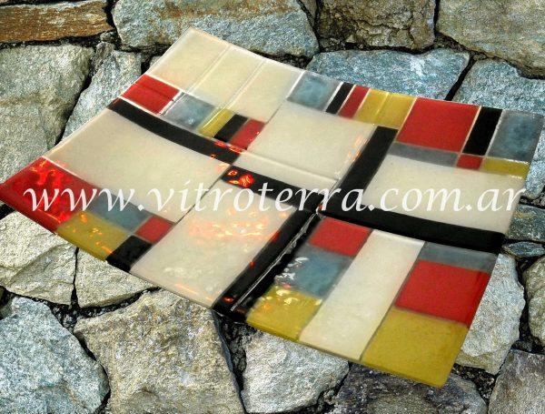 Centro irregular de vidrio Mondrian