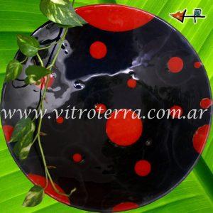 Centro circular de vidrio Moreno