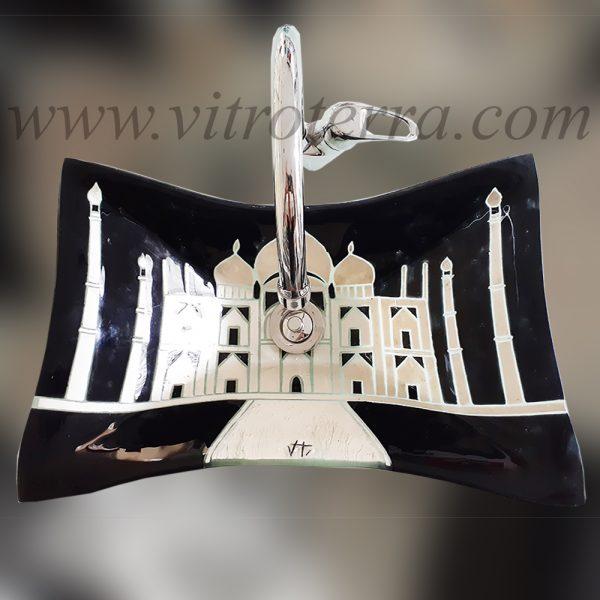 Bacha rectangular de vidrio A-Taj-Mahal