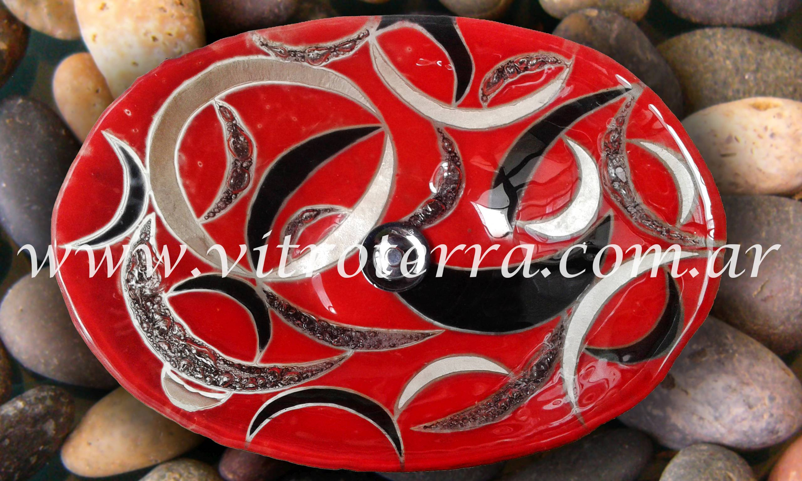 Bacha oval de vidrio Tiziana