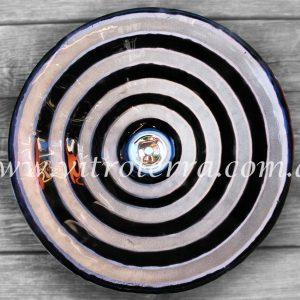 Bacha circular de vidrio Túnel-Nacarado