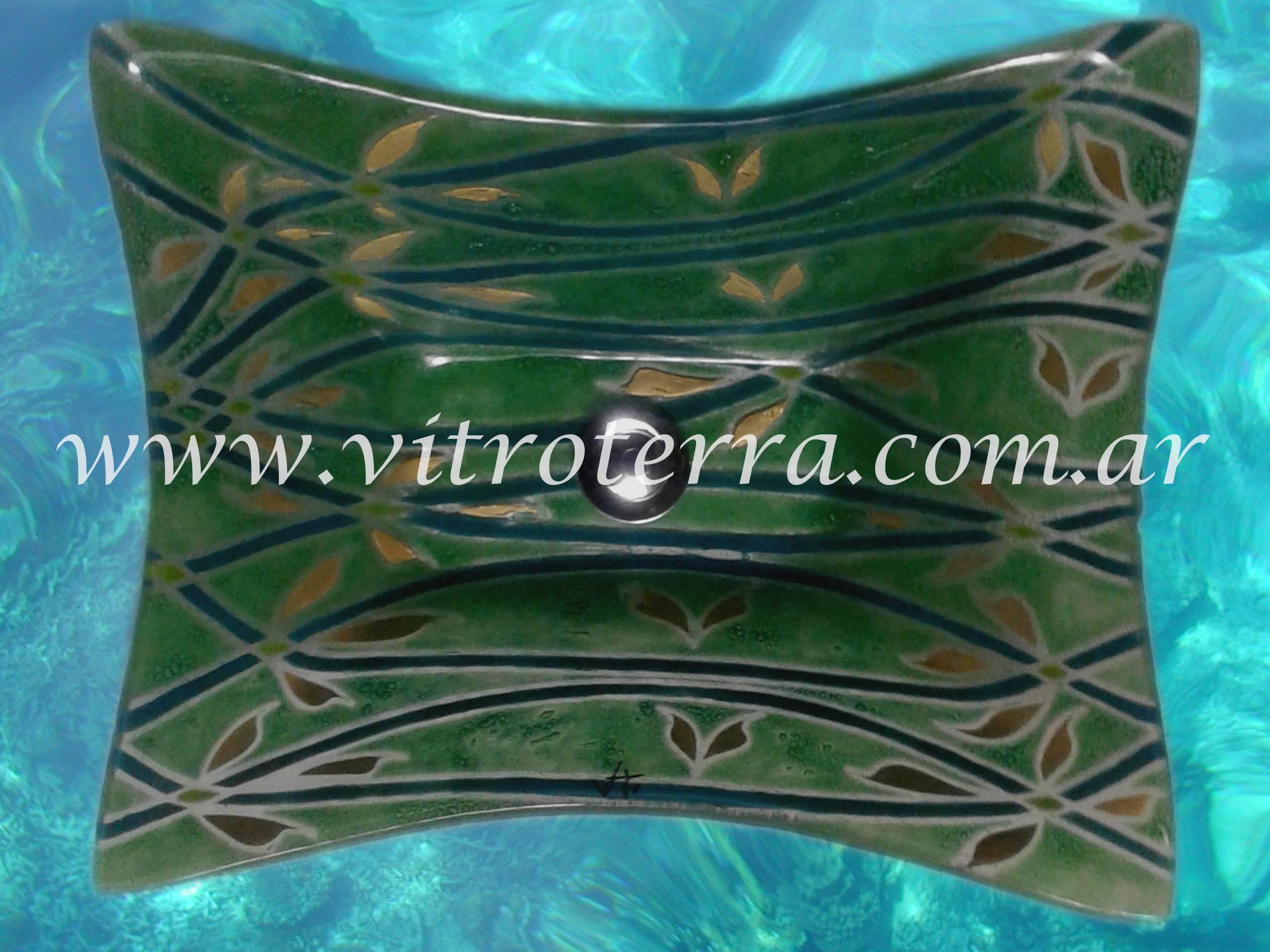 Bacha rectangular de vidrio Veleidosa