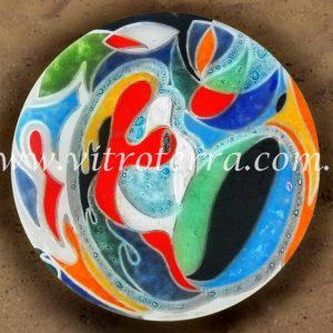 Centro circular de vidrio Vínculos