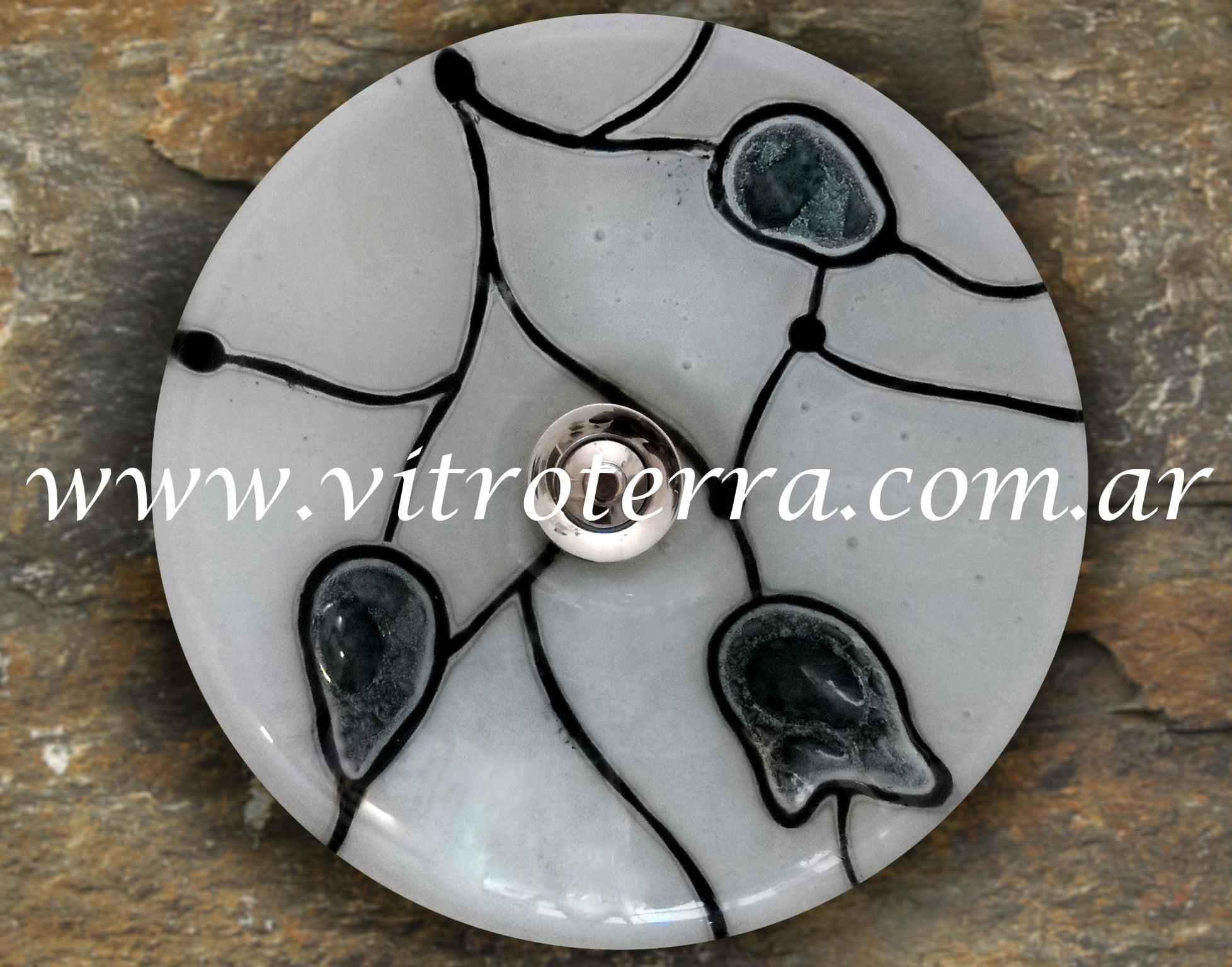 Bacha circular de vidrio Vitreaux