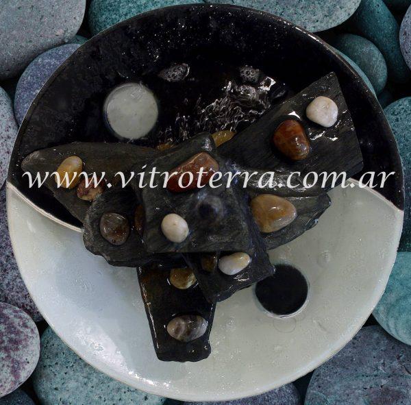 Centro circular de vidrio Yin-Yang
