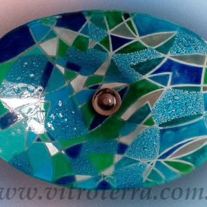 Bacha oval de vidrio Trini