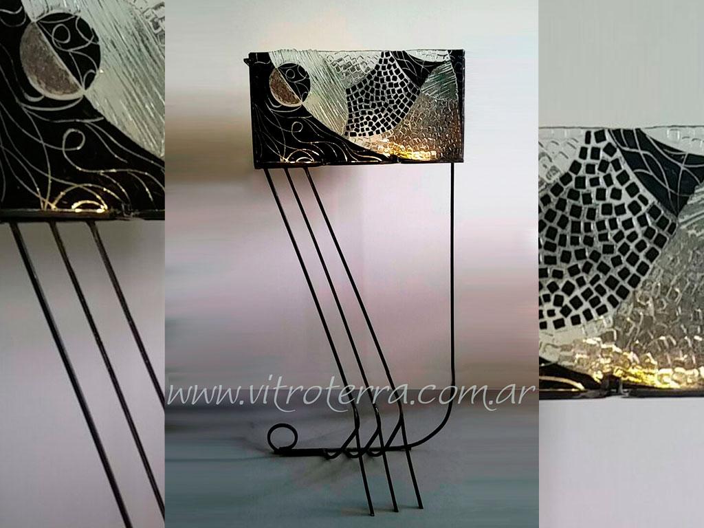 Lámpara de vidrio modelo Ónix
