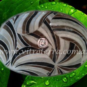 Bacha oval de vidrio Molinos