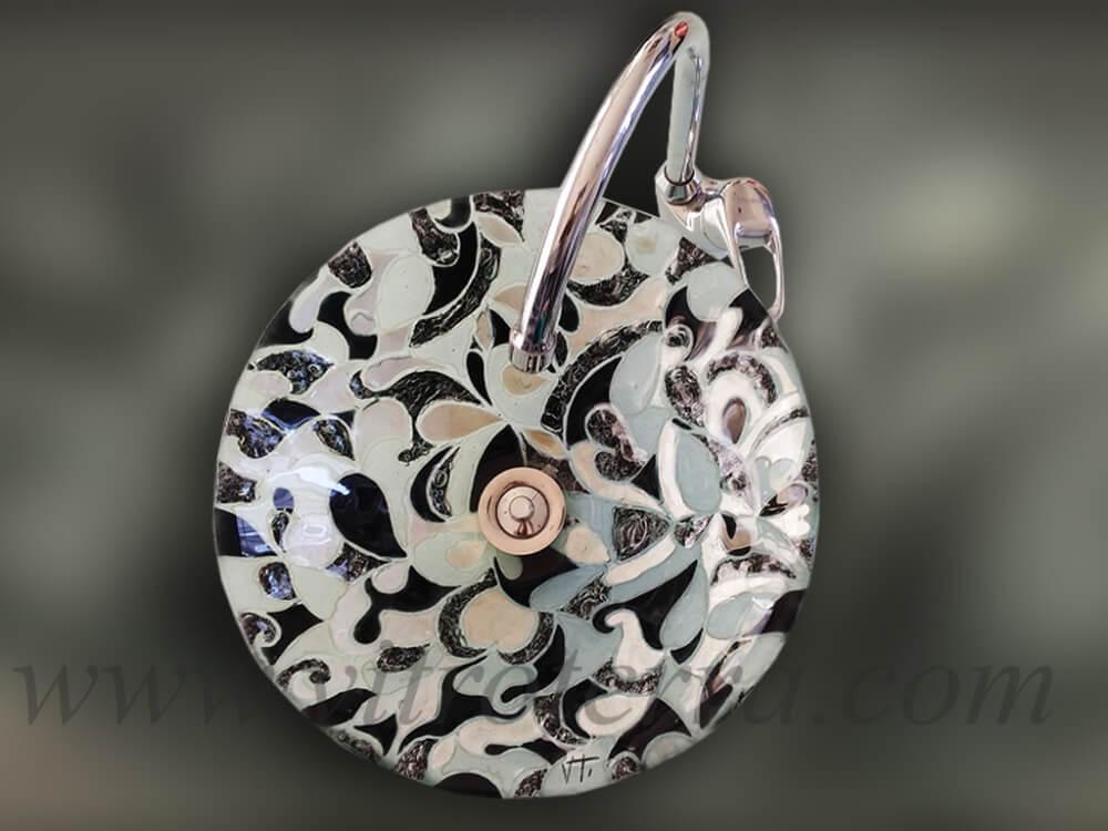 Bacha circular de vidrio Aníbal