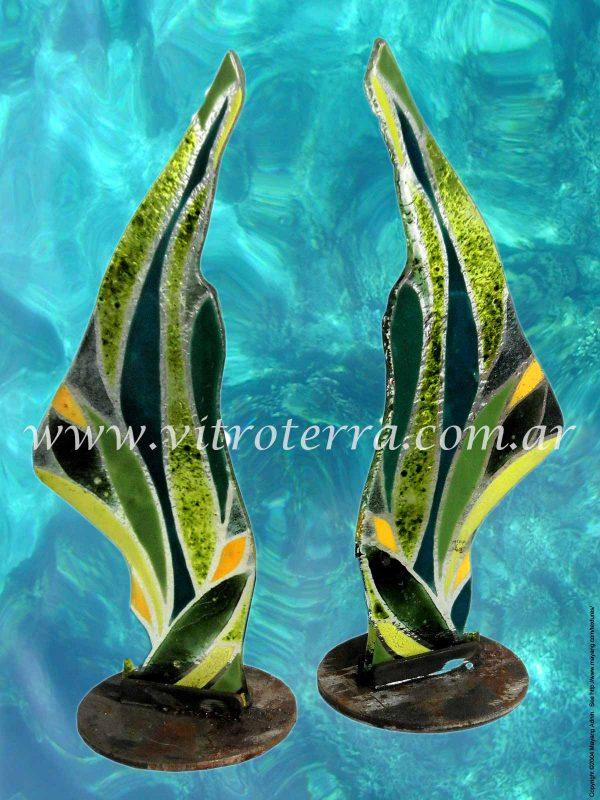 Escultura de vidrio modelo Manos-de-Mamá